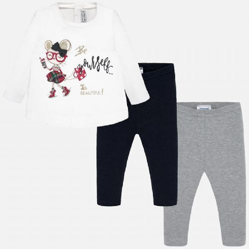 Leggings and Mouse T-Shirt Set